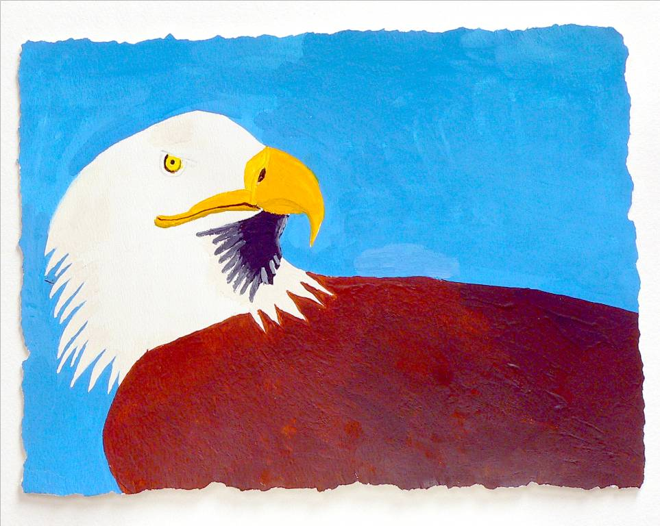 'Eagle', an acrylic by Katherine Moorehead, at Creations Accessible Art Gallery, the Mental Health Association of Northwestern PA