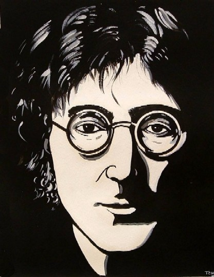 John Lennon,a portrait by Daniel Toney, at Creations Accessible Art Gallery, the Mental Health Association of Northwestern PA