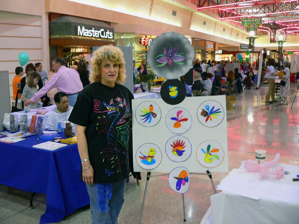 Katherine Moorehead volunteers at the Kids' Activity Table.