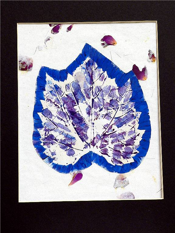 'Leaf Print', a printing ink on rice paper presentation by Katherine Moorehead, at Creations Accessible Art Gallery, the Mental Health Association of Northwestern PA