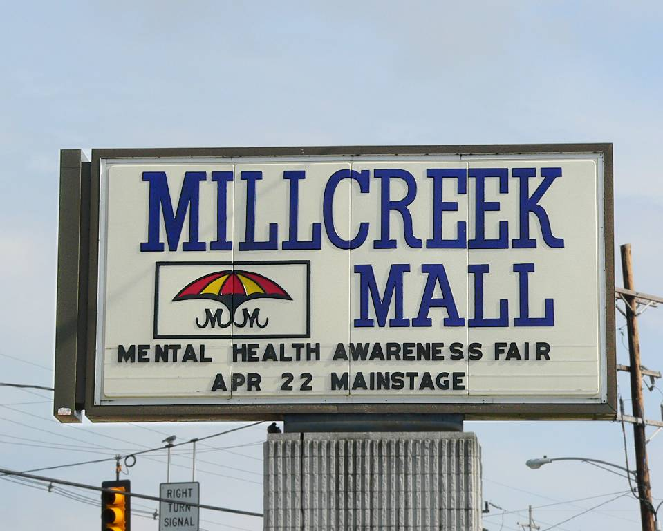 Mall Sign for Event