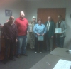 Recipients of Above and Beyond Award with CEO Bill Grove and Board President Missi Berquist