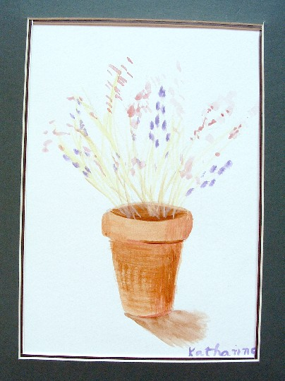 'Arrangement',a watercolor by Katharine Moorehead