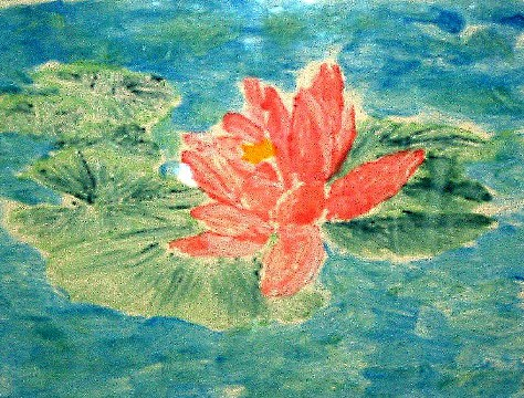 'Waterlily', a watercolor by Katherine Moorehead, at Creations Accessible Art Gallery, the Mental Health Association of Northwestern PA